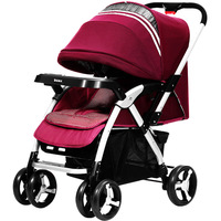 Baby Stroller Folding Baby Carriage High Landscape Sit and Lie Prams For Newborns Infant