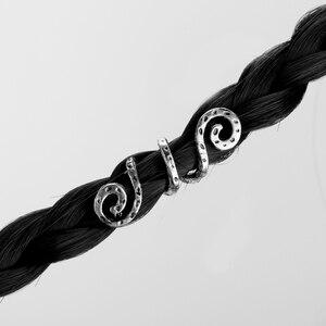 Викинговые спиральные подвески, бисер для волос, косы для бороды, украшения для волос, винтажные женские заколки для волос, аксессуары-15