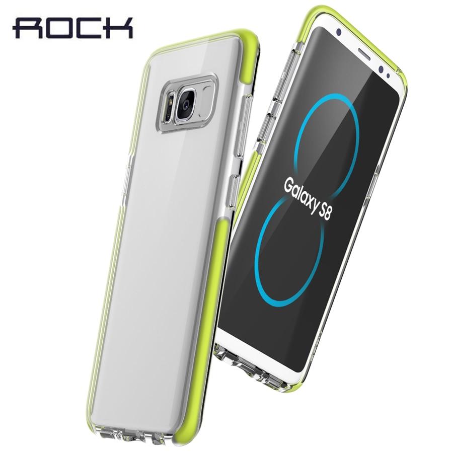 Цена за ROCK марка чехол Для Samsung Galaxy/S8/S8 plus capa Двойного слоя гвардии Серии TPE + ТПУ падение защитный футляр для galaxy s8 плюс