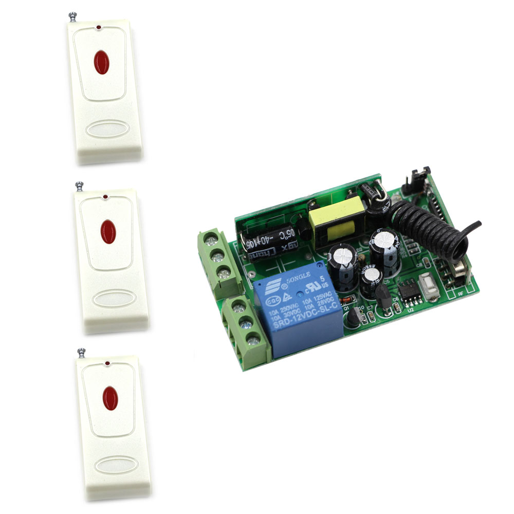AC 85-250V 1CH Wireless Relay Remote Control Light Switch Radio Light Switch Remote Power Switch Wireless Receiver Transmitter ac 85 250v ceiling lamp light led bulb remote control switch 1ch relay receiver wireless wall pannel transmitter 315mhz 433mhz