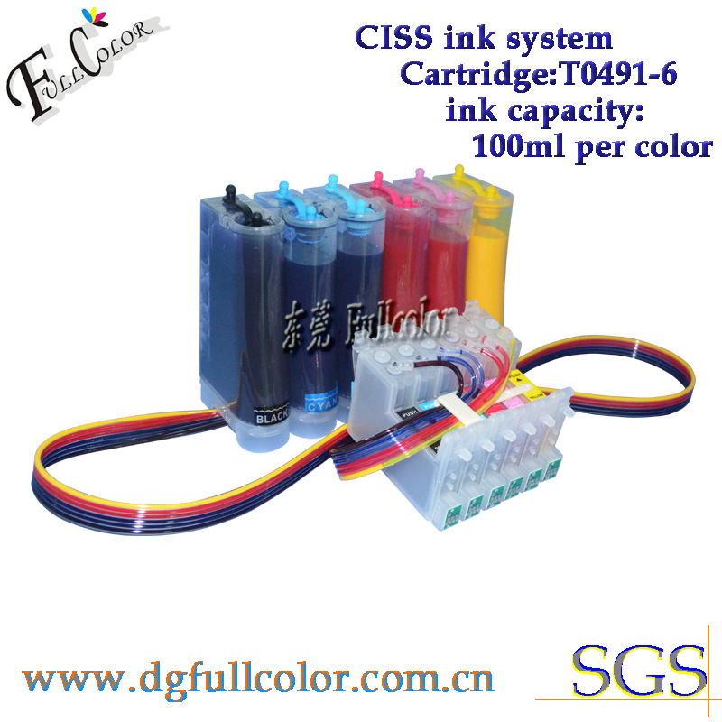 T0481-6 CISS Continuous Ink System For <font><b>R200</b></font> R220 R300 R300M R320 R340 Sublimation Ink Refill Kits image