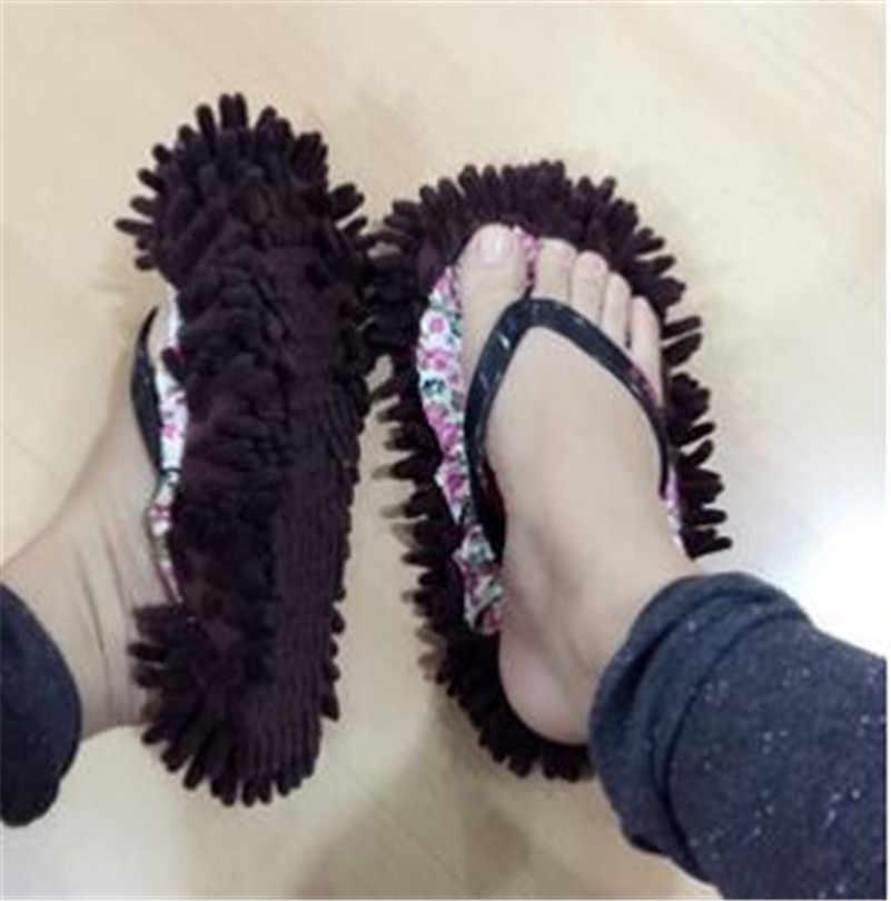 2 pçs/set Sapatos Preguiçoso Mop Limpo Mop Piso Chinelo Poeira Limpa Tampa Da Sapata de Limpeza de Ferramentas de Fácil Utilização HHY