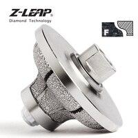 Z LEAP Алмазный ручной край профиль колеса для мрамора гранита диаметр 85x30 мм вакуумной пайки Алмазный шлифовальный абразивный инструмент