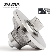 Z LEAP Diamond Hand Edge Profile Wheel For Marble Granite Diameter 85x30mm Vacuum Brazed Diamond Grinding Abrasive Tool