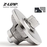 Z LEAP Diamond Hand Edge Profile Wheel For Marble Granite Diameter 85x30mm Vacuum Brazed Diamond Grinding Abrasive Tool