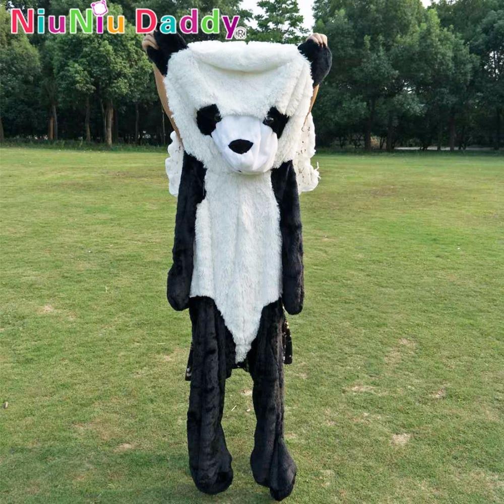 Niuniu Daddy Plush Toy 180cm Panda Skin Empty Panda Skin Plush Toys Doll Free Shipping 18cm 7inch super mario plush toys bowser dragon doll brothers bowser toy free shipping