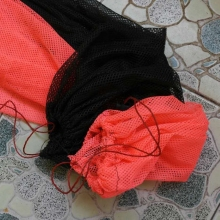 75cm fish bag colorful fishing tackle product small Mesh Foldable fyke net all for cheap fishing gears suppliers 1/2/5pcs/lot