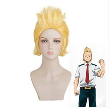 Halloween My Hero Academia BIG 3 Million Mirio Toogata Short Golden Wig Cosplay Costume Boku no Hair Wigs For Men