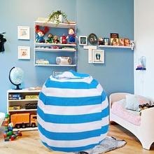 Novo portátil lona de pelúcia saco de brinquedo dobrável crianças roupas armazenamento saco de feijão para casa multi purpose organizador bolsa