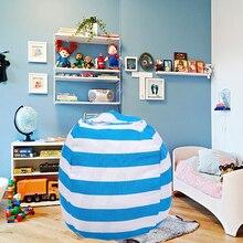 Nuevo portátil de lona de peluche bolso juguete de felpa plegable niños ropa de almacenamiento de bolsa de frijol para casa Multi propósito organizador bolsa