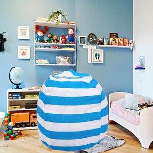 Image 1 - Nuevo portátil de lona de peluche bolso juguete de felpa plegable niños ropa de almacenamiento de bolsa de frijol para casa Multi propósito organizador bolsa