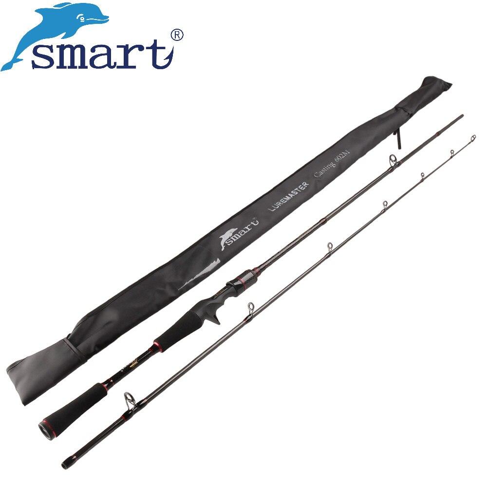 Smart 1.8m 2.1m Casting Fishing Rod 2 Section Carbon Fiber Lure Rod M Power Vara De Pescar Carbono Fishing Gear for Carp Fishing
