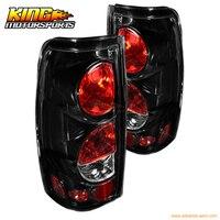 For 99 06 Chevrolet Silverado 99 03 GMC Sierra Altezza Tail Lights Glossy BLK Clear USA Domestic Free Shipping