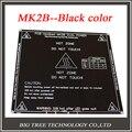 Envío gratis nueva impresora RepRap 3D PCB Heatbed MK2B climatizada cama placa caliente para Prusa y Mendel MK2A MK1 Color negro