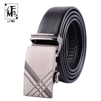 LFMB 2016 Automatic Buckle Leather Men Belts Hot Sale Mens Brand Leather Belt Waistband