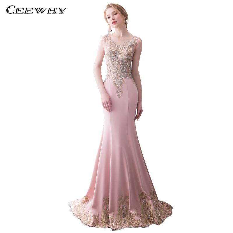 CEEWHY Robe de soirée élégante robes de soirée perlées robes de Fiesta Largos Elegantes de Gala Robe de soirée sirène Robe formelle