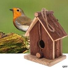 Прямая поставка и натурального дерева Птичий дом Висячие гнезда открытый сад клетка APR29