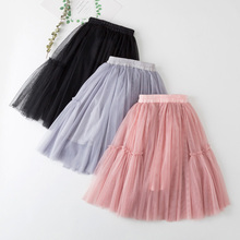 2019 Spring Autumn Girls Skirt Fashion Kids Tulle Skirts Chi