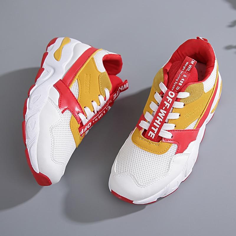 Chaussures Taille rouge Papa 2018 jaune Baskets Noir 40g4 Avec Version 35 Sera Dans Coréenne Équipée Femmes Populaire L'automne La Pour Le Nouvelle Super Taxqx51