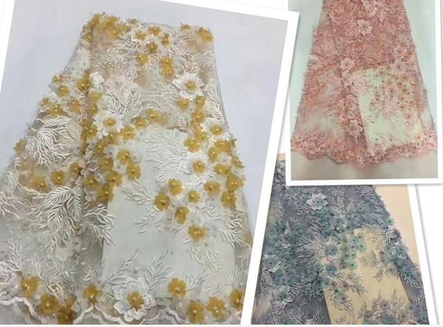 D lace fabric high quality nigerian party dress fashion african
