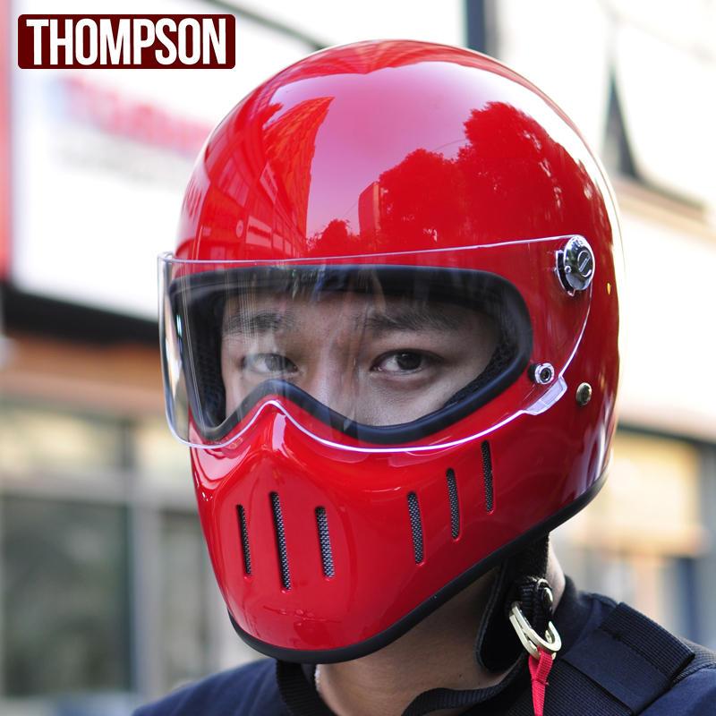 TT&CO for Thompson motorcycle full face helmets TT02-F vintage retro fiberglass moto helmet tokyo style harley motobike helmet