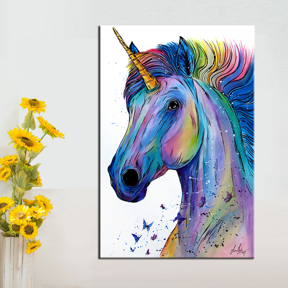 It is a picture of Ridiculous Colorful Unicorn Pictures