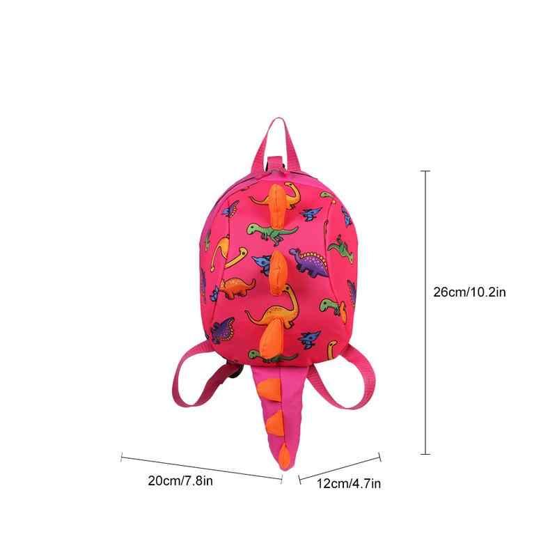 Lucu Dinosaurus Ransel Balita Safety Harness Anti-Lost TK Bayi Ransel Tas 3-6 Tahun Perjalanan Orang Tua -Anak Tas