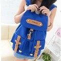 Mochilas de lona das mulheres mochilas saco de escola mochila de lona 006
