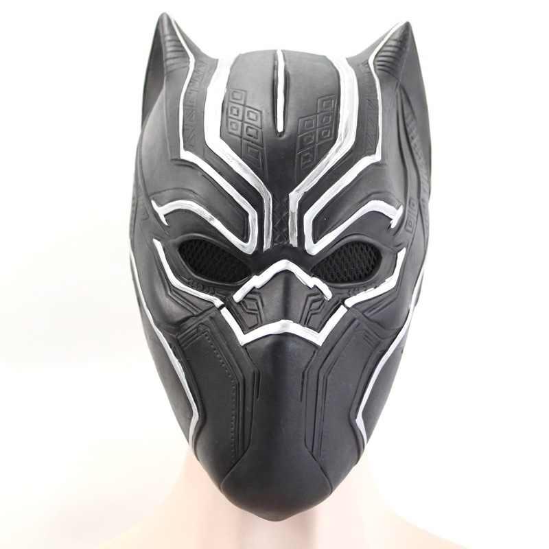 Черная пантера маски фильм фантастический четыре Косплей Мужская латексная вечерние для Хэллоуина Косплей-реквизит Marvel супергерой фигурка