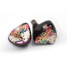 Ak áudio 8ba + 1dd diy feito sob encomenda no ouvido fone de ouvido unidades híbridas alta fidelidade em fones de ouvido monitoramento headplug com conector mmcx
