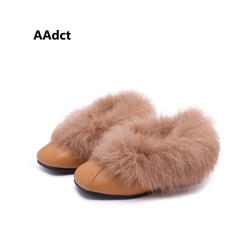 все цены на AAdct toddler baby girls shoes cotton fur warm winter leather kids shoes for girls princess new little children shoes Brand онлайн