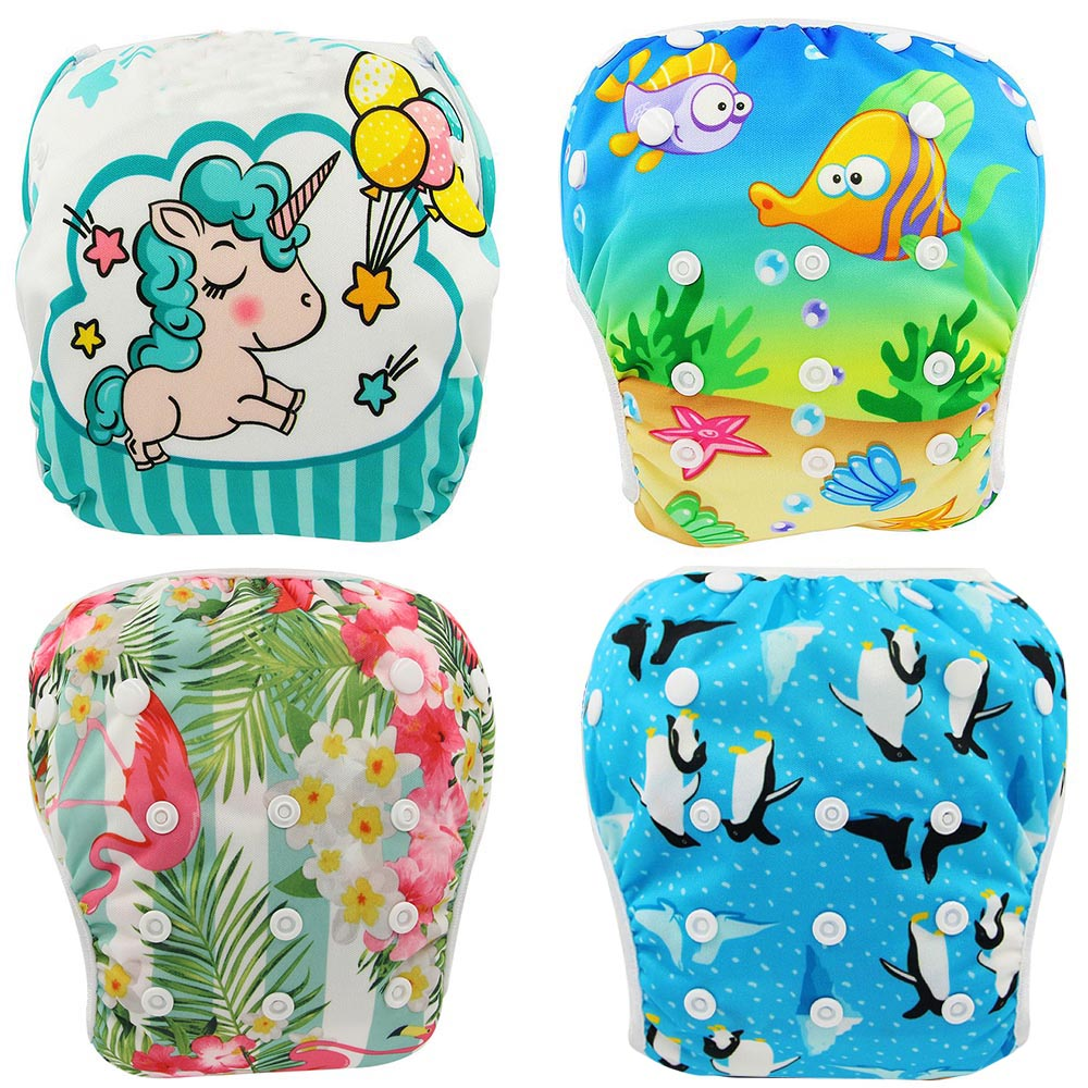 Cloth Diapers Pool-Pant Baby Nappies Adjustable Swimming Waterproof