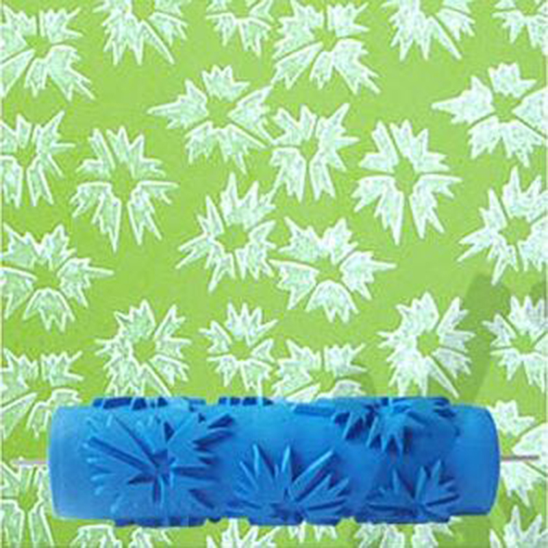7inch 3d Rubber Wall Decorative Tool Painting Roller 064c Leaves
