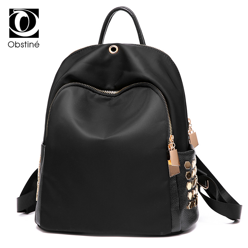 2017 New Black Fashion Women Backpack PU Leather Small School Backpack For Girls Waterproof Female Travel