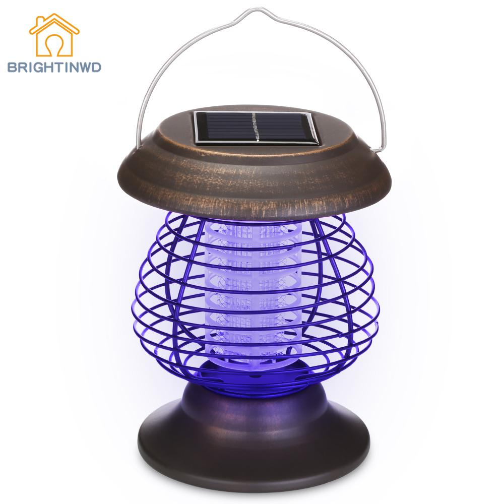 2018 New Solar Lamp Powered Bug Zapper Waterproof Outdoor Light For Camping Traveling Emergency Lighting Modern Ip65