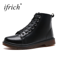 Ifrich 2018 New Leather Motorcycle Boots Black Male Leather Boots Lace Up Security Shoes Mens Wearable Work Footwear Cheap
