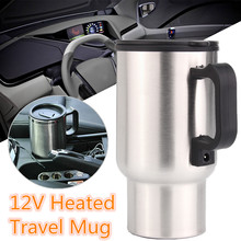 Travel Mug Heated-Kettle Camping Heating-Cup Auto-Accessories 12V Car 450ML Stainless-Steel