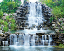 Купить с кэшбэком Beibehang 3D photo Wallpaper Waterfalls Landscape Landscapes Background Wall paintings Decorative Wallpapers for walls 3D