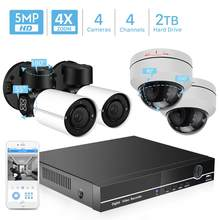 ANBIUX 4CH H.265 PTZ 5.0MP POE 4X Zoom NVR Kit CCTV System IP Camera Outdoor Video Security Surveillance Set Outdoor Waterproof(China)