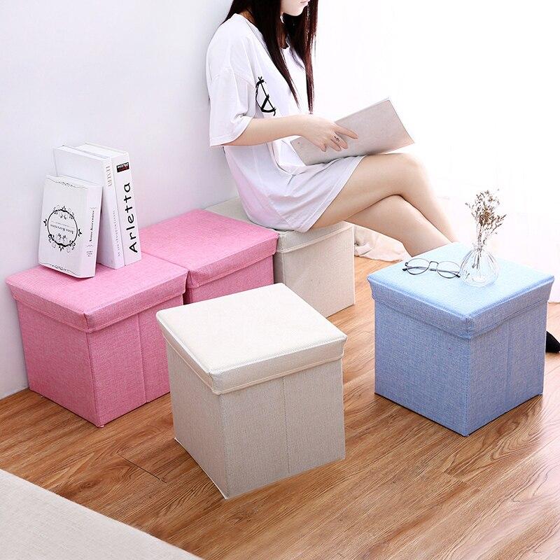 Multi-fonction accueil organisation chambre boîte de rangement boîte de rangement des vêtements chaussures organisateurs jouet boîte magazine boîte de rangement tabouret