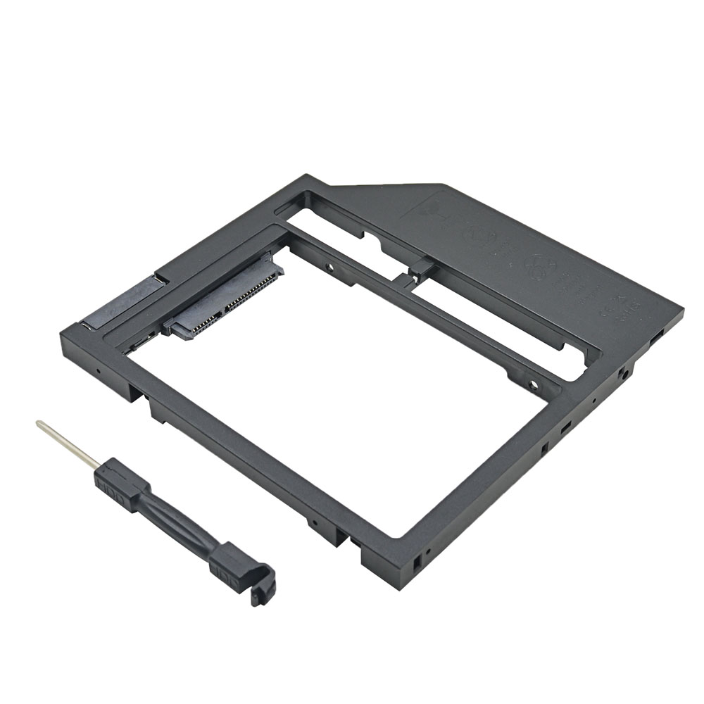 new universal plastic hdd caddy 9mm sata 3 0 2 5 ssd case laptop cd dvd rom optibay in. Black Bedroom Furniture Sets. Home Design Ideas