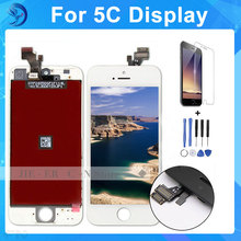 100% Prueba De Alta AAA Para 5C iPhone Pantalla LCD Táctil Pantalla Digitalizador Asamblea Reemplazo de la Pantalla negro
