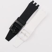 Pin buckle silicone strap men's watch accessories for Swatch VGK403 SVGK406SVGK409 402 waterproof bracelet female watch band все цены