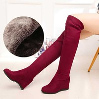 34 40 PLUS SIZE Women Stretch Slim Thigh High Boots Sexy Fashion Over The Knee Boots