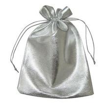 100 unids 13*18 cm bolso de lazo bolsas de mujer de la vendimia de Plata para Wed/Partido/de La Joyería/de la Navidad/bolsa de Envasado Bolsa de regalo hecho a mano diy