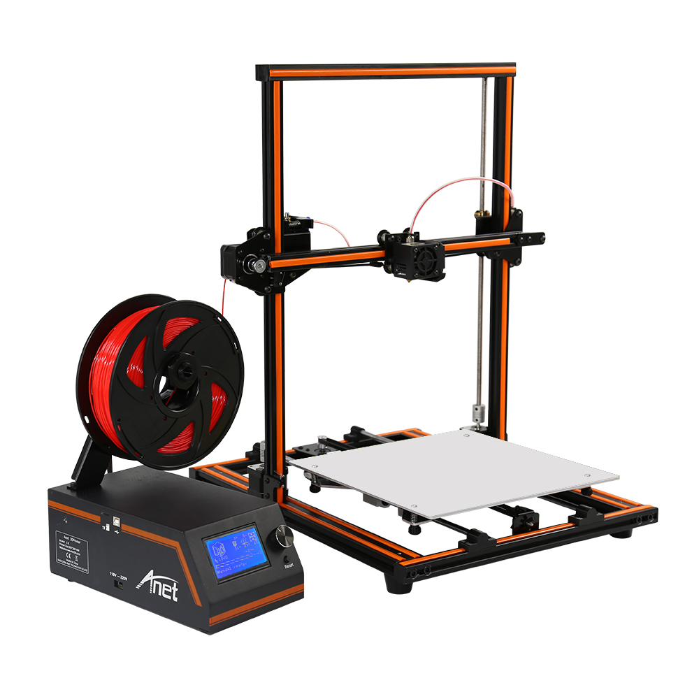 Anet E12 big size semi-assembled DIY 3D printer with printing size 300*300*400mm big sale laptop creality 3d printer cr 10 fully assembled plus printing size 300 300 400mm 3d printer diy kit with sd card