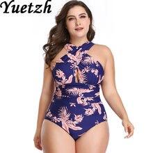 e7a28b77399 New plus size swim suit one piece women swimwear one piece large size  swimsuit swimming suit beach bathing wear for Russian
