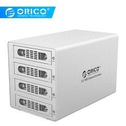 ORICO 3549RUS3 Tool Free Aluminum 4 Bay 3.5 SATA2.0 USB3.0&eSATA HDD External Docking Station RAID Function 4*8TB  HDD Case