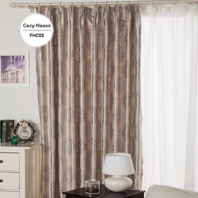 stof elegante luxe verduisterende gordijnen voor woonkamer roze blinds jacquard gordijnen damast europese venster behandelingen panelen