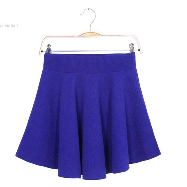 a14a732bcb US $6.2  New Skater Stretch Waist Plain Flippy Flared Skirt Pleated Jersey  Short Skirt Sundress 22-in Skirts from Women's Clothing on Aliexpress.com    ...